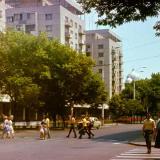 Краснодар. Перекресток улиц Красной и Мира. Вид на восток. Конец 1970-х