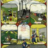 """Краснодар. Плакат """"Станичник дай хлеба рабочему"""". 1920 год"""