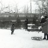 Краснодар. Зимой на ул. Славянской. 1977 год