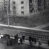 Краснодар. Улица Славянская, остановка Доватора. 1970-е годы