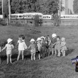 """Краснодар. Конечная остановка троллейбуса возле стадиона """"Кубань"""". 1960-е годы"""