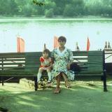 Краснодар. Пристань на Кубанонабережной, 1987 год.