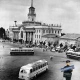 Краснодар. Привокзальная площадь, 1964 год. Фото Галушко О.И.  Вид 2