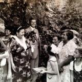 Краснодар. Р.М. Горбачева во дворе дома на ул. Морской, 1986 год