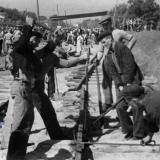Краснодар. Работы на улице Будённого. Август 1949 года.
