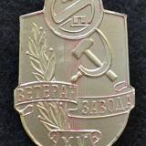 Значки. РИП. Ветеран завода, XV лет, 1980-е годы