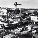 Краснодар. Сенной рынок и здание строящегося цирка, 1968 год