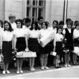 Краснодар. Школа № 48. 1972 год. Последний звонок - 10 Б класс