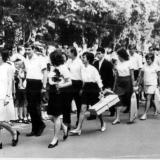 Краснодар. Школа № 48. 1972 год. Последний звонок - 10 Б
