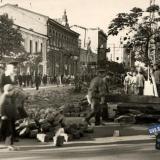 Краснодар. Снятие трамвайных путей с улицы Красной. Сентябрь 1949 года.