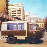 Краснодар. Спецавтомобиль агитационно-культурной бригады T12.02, 1992 год