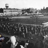 Краснодар. Спортивная колонна студентов СКИПП на стадионе, 1931 год