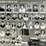 """Краснодар. СШ№30, выпуск 10 """"В"""" класса, 1971 год"""