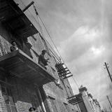 Краснодар. Строительство дома на углу ул. Красной и Советской, 1930-е