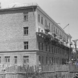 Краснодар. Строительство дома по улице Сталина, № 143. 1957 год.