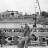 Краснодар. Строительство переправы через р.Кубань, август 1942 года