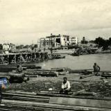 Краснодар. Строительство переправы через р.Кубань, август-сентябрь 1942 года
