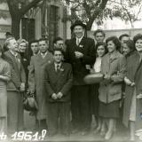 Краснодар. Студенты и преподаватели КСХИ на ноябрьской демонстрации, 1961 год