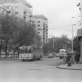 Краснодар. Троллейбус маршрута №6 на перекрестке улиц Мира и Красной, 1979 год