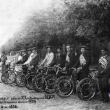 Краснодар. Участники вело-пробега имени ХХ годовщины ВЛКСМ. 6.Х.1938 г.