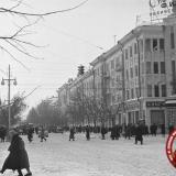 Краснодар. Угол улиц Красной и Мира, 1962 год, вид на юг