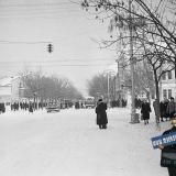 Краснодар. Угол улиц Красной и Мира, вид на север, 1962 год