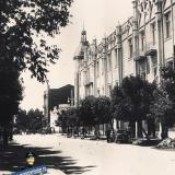 Краснодар. Угол улиц Красной и Ворошилова, 1955 год, вид на запад