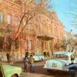 Краснодар. Улица имени К.Е. Ворошилова. Краеведческий музей. 1976 год.