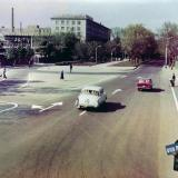 Краснодар. Улица Красная, перекрёсток Дружбы. Март 1971 года.