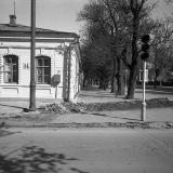 Краснодар. Улица Октябрьская № 14, у перекрёстка с Тельмана, 1977 год.