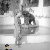 """Краснодар. В горпарке у фонтана с """"цветочным слоном"""", 1961 год"""