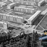 Краснодар. Вид на микрорайон Гидростроителей. Улица Дмитрия Благоева, 1974 год