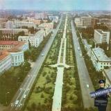 Краснодар. Вид на север от пересечения улиц Красной и Хакурате, 1974 год