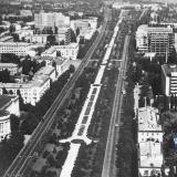 Краснодар. Вид на север от пересечения улиц Красной и Хакурате, 1976 год