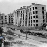 Краснодар. Вид строительства 100-квартирного дома на улице Почтовой, 1931 год.
