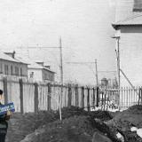 Краснодар. Вид от угла улиц Юннатов и Клинической на запад. Май 1957 года.