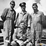 Краснодар. Югославские пилоты на лётном поле училища