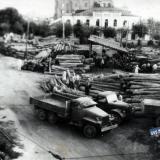 Краснодар. Заготовка шпал, 1948 год