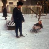 Краснодар. Зимний двор, начало 1980-х