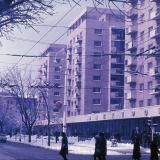 Краснодар. Зимним днём вид от угла улиц Красноармейской и Мира на запад.