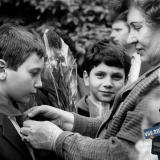 Краснодар. Прием школьников в пионеры у Памятника зенитчикам, 9 мая 1991 года
