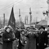 Краснодар. Пуск троллейбуса по улице Тургенева. 11 марта 1967 года.