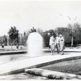 Краснодар. Сквер на Тельмана. Фонтан одуванчик. 1974 год