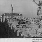 Краснодар. Строительство жилого дома  з-да Седина, 1957 год.