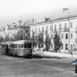 Краснодар. Трамвай КТМ/КТП-1 маршрута № 2 на улице Захарова