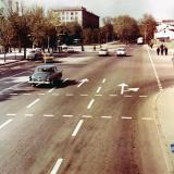 Краснодар. Улица Красная, перекрёсток Будённого. Март 1971 года.