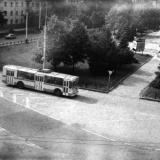Краснодар. Троллейбус на улице Офицерской, 1988 год