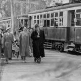 Краснодар. Участники Первомайской демонстрации на улице Захарова, 1959 год