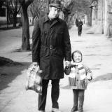 Улица Октябрьская, от ул. Советской до ул. Комсомольской. Ноябрь 1973 года.