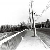 Краснодар. Вид на восточную часть Краснодара с моста через ж/д Краснодар-Кропоткин, 1979 год.